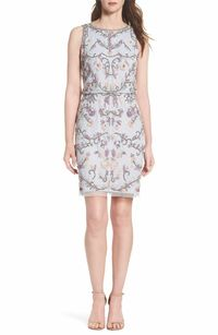 Main Image - Adrianna Papell Embellished Blouson Cocktail Dress