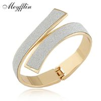 Pulseras Gold/Silver Cuff Bracelets & Bangles for Women Men Jewelry Charm Bracelet R235.80