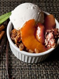 Recipes from The Nest - Grilled Peach Cinnamon Crisp