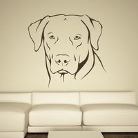 Labrador Portrait Dogs Animals Wall Decal Art Stickers Wall Decal