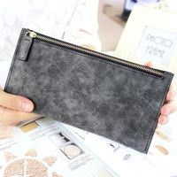 Price: $15.30 | Product: long wallets female fashion PU leather zipper clutch wallet | Visit our online store https://ladiesgents.ca