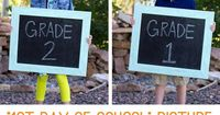 """Make It and Love It �€"""" First Day of School Picture DIY Chalkboard"""