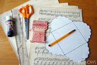 Create your own scalloped envelopes.