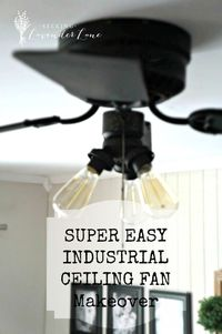 Super Easy Industrial Style Fan Makeover Since we are planning for this party this weekend, the hubby and I have been doing all types of little projects around