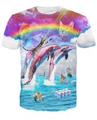 Rainbow Dolphin Kitty T-Shirt $22.97