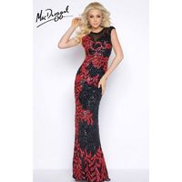 Black/Red Cassandra Stone 4336A - Fitted Sleeveless Long Sequin Dress - Customize Your Prom Dress