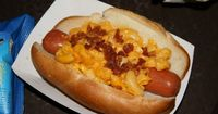 Macaroni & Cheese and Truffle Oil Gourmet Hot Dog - Fairfax Fare - Hollywood Studios (my 8 year old wants to try it!)