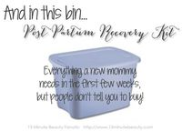 Post partum recovery kit: the embarrassing things you'll want to have around for after you have your baby