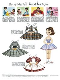 This must have been a McCalls' pattern too. I started school in these dresses. Lol
