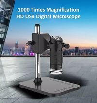 1000X 2MP Handheld USB Digital Microscope Electronic Adjustable 8 LED Magnifier Camera with Stand