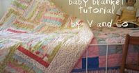 Cute baby blanket. I love this website because it tells you what fabric they used. Picking fabric is the hardest part for me!
