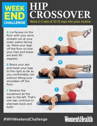 """Try this rotational exercise for a slimmer midsection. The abdominal movement here uses way more muscles in your core�€""""particularly your obliques�€""""than standard crunches. repost IF YOU'RE IN! #WHWeekendChallenge http://www.wome..."""
