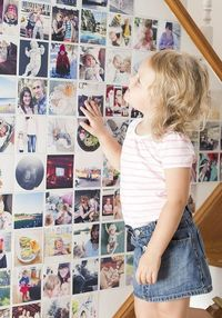 Don't you just love photo walls? Is is by no way a new thing but I have always just loved thousands of photos all in one place. The walls of my bedroom growing