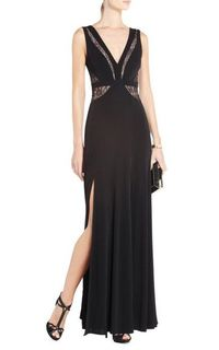 Bcbgmaxazria Sophee Lace Inset Evening Gown