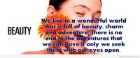 Beauty quote on picture