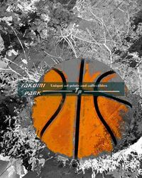 A colorful and modern basketball artwork print. The basketball art is a photo print and comes in different sizes. #basketballart #basketballartist #takumipark #urbanart #sports