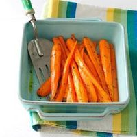 """Cutting the carrots lengthwise makes this dish look extra pretty.�€""""Deirdre Cox, Kansas City, Missouri"""