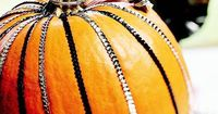 ... a little crafty! Sequin-Striped Pumpkin. As elegant as a dancer's dress, this pumpkin dons stripes of sequins in silver and black.