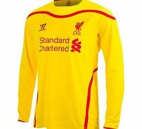 Warrior Liverpool Away Shirt 2014/15 Long Sleeve Kids Liverpool Away Shirt 2014/15 Long Sleeve Kids YellowLet your child perfect their skills in this yellow Liverpool Away Shirt for 2014/15. With a Fully embroidered Warrior logo, LFC crest and embroider...