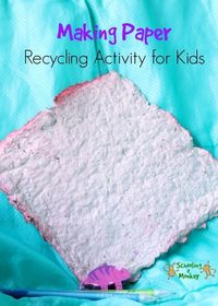 In this activity on how to make recycled paper at home, you will learn all about how paper is recycled and other fun ways to teach recycling. Making paper with