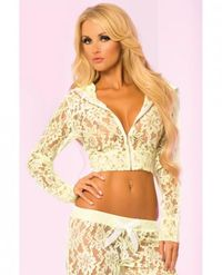 Loungwear Lace Cropped Hoodie Top - Our Price: $27.99 http://www.sextoysshop.com/loungwear-lace-cropped-hoodie-top-green-lg.html