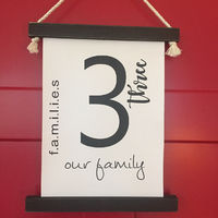 Families Our Family 3 Wall Hanging (small) $35.00