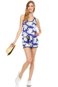 Women's Tropical Print Racer Back Sleeveless $21.50