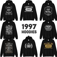 1997 Birthday Gift, Vintage Born in 1997, 23rd Birthday Hooded Sweatshirt for her him, Made in 1997 Hoodies for men women 23 Year Old $23.99