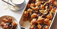Get this all-star, easy-to-follow Chocolate Croissant Bread Pudding with Bourbon Ice Cream Sauce recipe from Michael Chiarello
