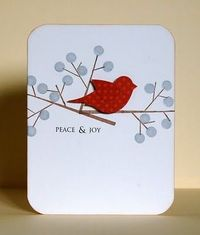 Card #2 (bird) Cardstock: PTI (vintage cream) Patterned paper: Bo Bunny Stamps: PTI (tree from Falling Leaves set, dot from Background Basics: Polka Dots set), Wplus9 (sentiment) Ink: Memento Starlight Silver, Memento Rich ...