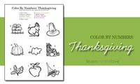 { Color By Numbers: Thanksgiving }