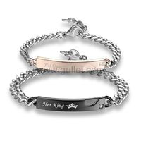 Couple Promise Bracelets His King Her Queen https://www.gullei.com/couple-promise-bracelets-his-king-her-queen.html