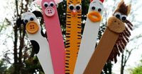 Kids Crafts - Popcicle Stick farm - Click image to find more DIY & Crafts Pinterest pins