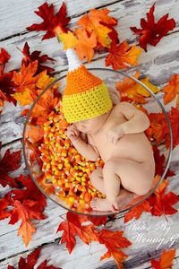 crochet candy corn hat- $16.00, via Etsy.