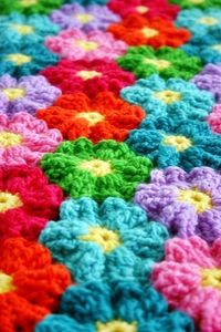 Felted Button - Colorful Crochet Patterns: Joining-As-You-Go on the Road