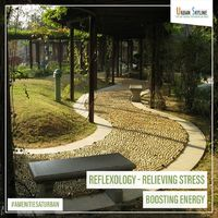 Science say that sleeping under a Peepal tree increases our life span as it releases oxygen at night. In Urban Skyline 24 hours oxygen emitting plants and trees help to live healthy and live long. Reflexology path in Urban Skyline stimulate neurological r...