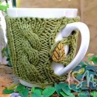 Button Up Your Cup Knitted Coffee Mug Cozy