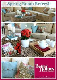 DIY decorating with Better Homes and Gardens {Family Room Makeover}