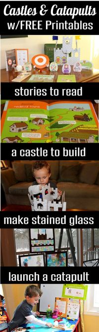 If you have a preschooler, toddler, or young child at home who enjoys stories of knights, castles, catapults and shields, you will love this post. It includes a