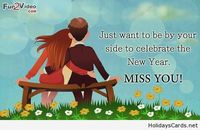 Miss you new year card saying