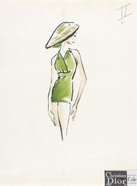 christian dior Fashion Sketch, 'II' | LACMA Collections