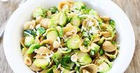 Brown Butter Brussels Sprouts Pasta with Hazelnuts