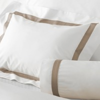 Lowell Khaki on White Bedding by Matouk $68.00
