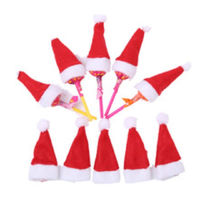Pack of 10 Tiny Santa Hats. Christmas Tree Decoration. Xmas Party Table Topper. £5.19
