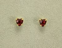 7 mm Heart Shaped Red or Pink Swarovski Crystal Magnetic Earrings $30.00 Designed by LauraWilson.com