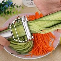 High Quality Stainless Steel Potato Cucumber Carrot Grater Julienne Peeler Vegetables Fruit Peeler Double Planing Grater Kitchen Gadget �'�14.27