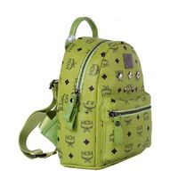 MCM Mini Stark Six Studded Backpack In Green