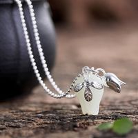 Orchid pendant Orchid and Tian Yu Pendant - 925 Silver Women's Fashion Necklace - Mother's Day gift-gift for her Message Seller