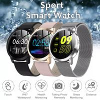 Bakeey Metal Body 1.22' Tempered Glass Blood Pressure Reject Call Music Control Smart Watch