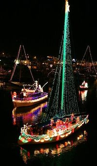 Lighted Boat Christmas Parade, Santa Cruz Harbor, California. >>> always wanted to do this! Has anyone tried??